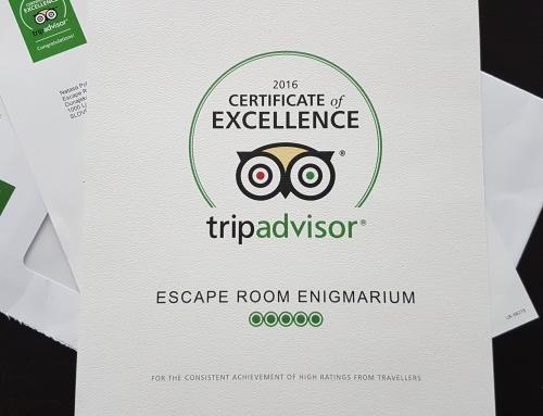 Certifikat odličnosti TripAdvisor