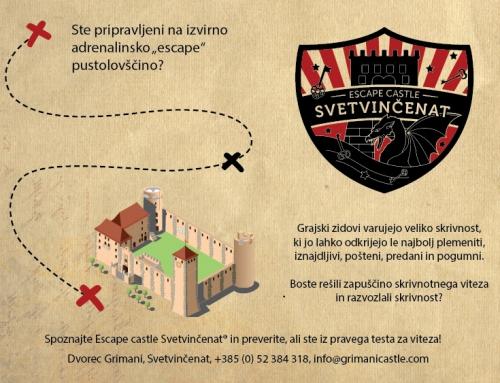 Igrifikacija gradov – Escape castle Svetvinčenat®!