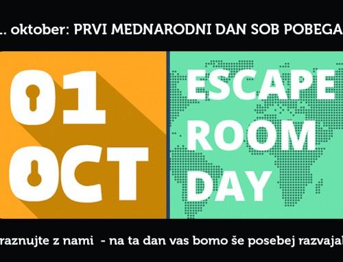 Prvi oktober – mednarodni dan sob pobega